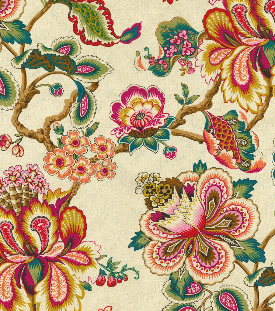 590851 Bespoke Blossoms Sunset Pk Lifestyles Fabric