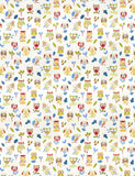 Charleston Ollie Owl Paintbox Animal Fabric
