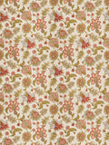 Charleston Percell Coral Jacobean Fabric