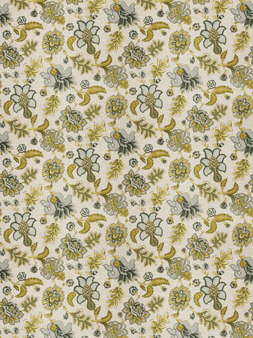 Charleston Percell Watercolor Jacobean Fabric