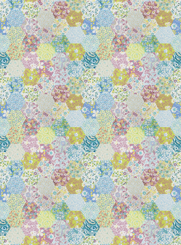 Charleston Picnic Patchwork Rose Juvenile Fabric