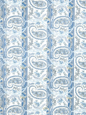 Charleston Preside Blueberry Paisley Fabric