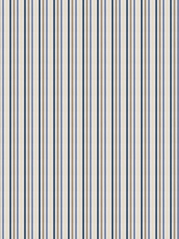 Charleston Rava Stripe Navy Stripes Fabric