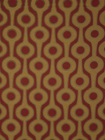 Charleston Roller Crimson Contemporary Fabric
