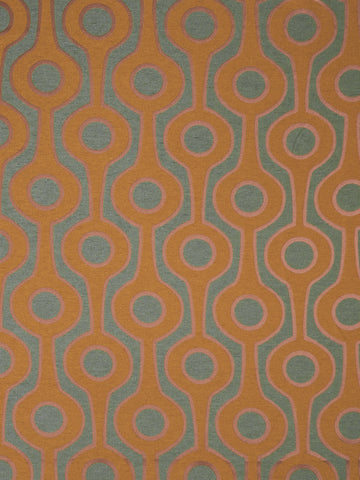 Charleston Roller Teal Contemporary Fabric