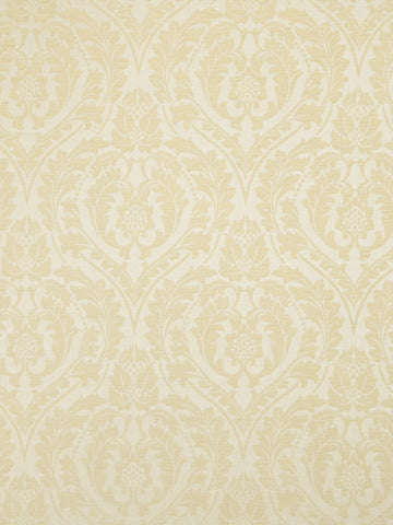 Charleston Salmson Cream Damask Fabric