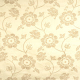 Charleston Shell Floral Wheat Embroidered Fabric