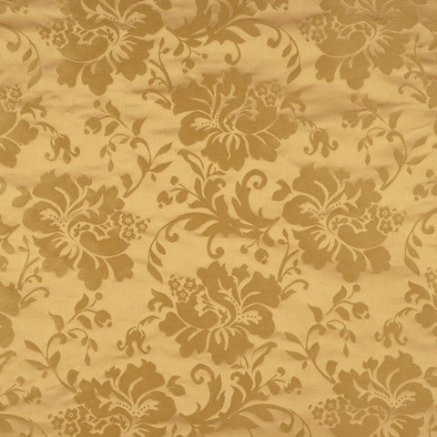Charleston Shiring Goldleaf Damask Fabric