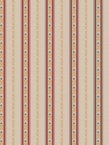Charleston Striped Kenyte Mulberry Global Fabric