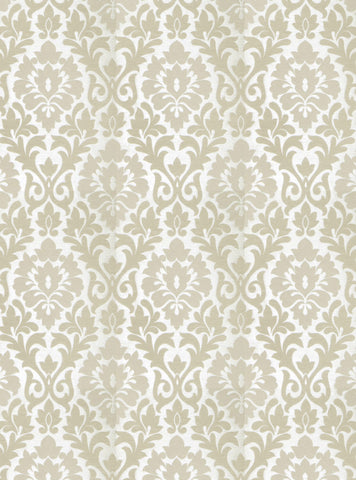 Charleston Terralsole Linen Damask Fabric