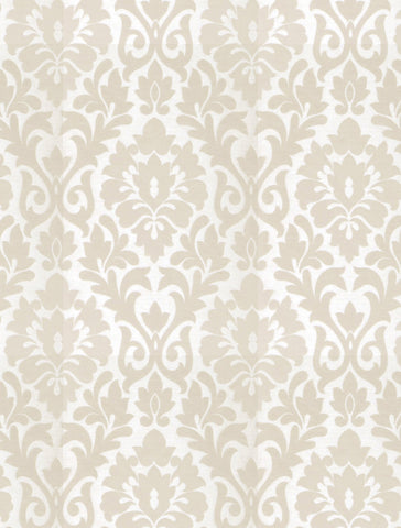 Charleston Terralsole Parchment Damask Fabric