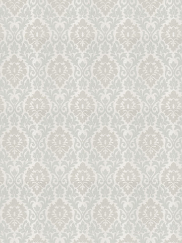 Charleston Terralsole Seaglass Damask Fabric