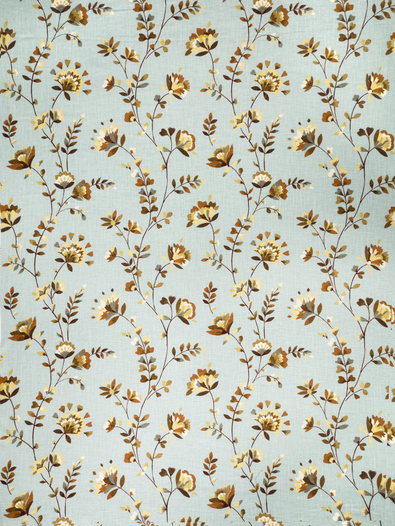Charleston Wispy Floral Duck Egg & Sand Floral Fabric