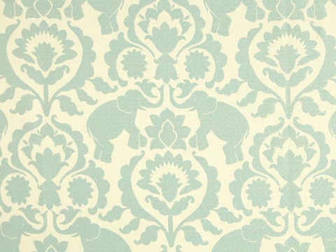 Covington Babar Elephants Jacquard Serenity Damask Fabric