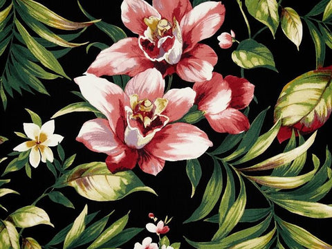 Covington Cammi Floral Twill Rouge Floral Fabric