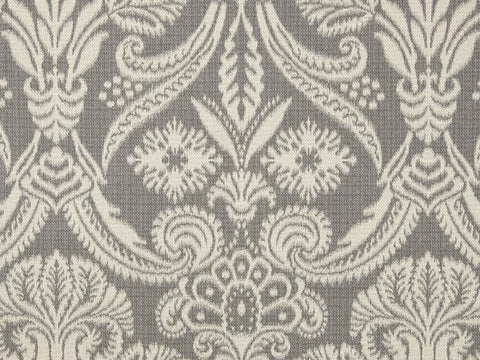Covington Canterbury Reversible Jacquard Graphite Damask Fabric