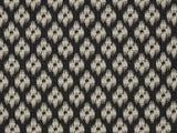 Covington Chester Jacquard Ebony Ikat Fabric
