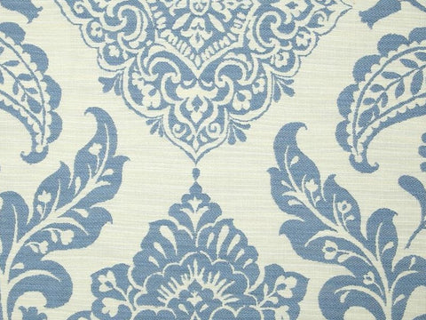 Covington Madagascar Double Cloth Capri Blue Damask Fabric