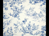 Covington Musee Toile Blue Toile Fabric
