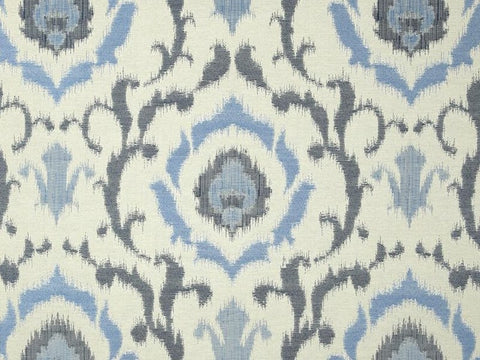 Covington Tandori Ikat Jacquard Denim Blue Ikat Fabric