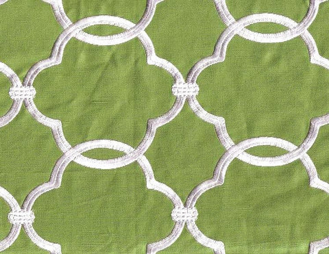 Fabricut Charlotte Moss Charlotte Grass Embroidered Fabric