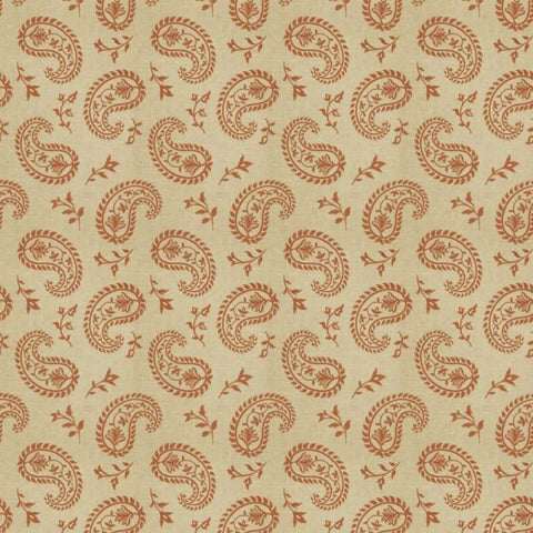 Fabricut Charlotte Moss Grenoble Henna Embroidered Fabric