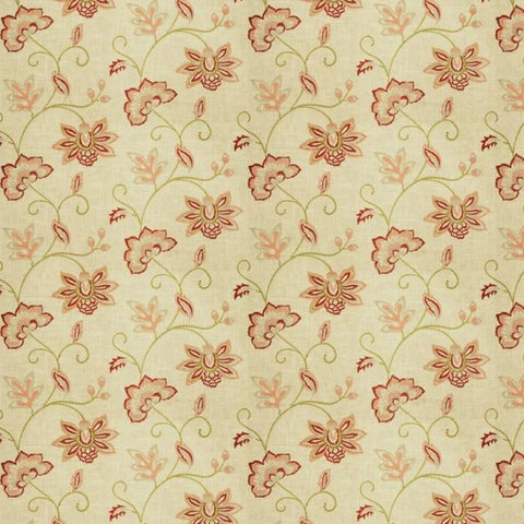 Fabricut Charlotte Moss Ripoli Coral Embroidered Fabric