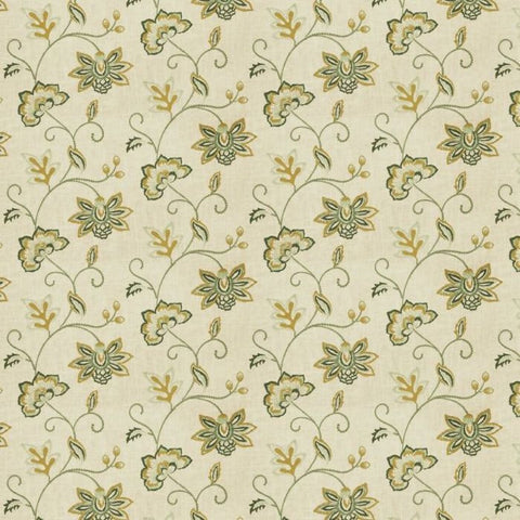 Fabricut Charlotte Moss Ripoli Cypress Embroidered Fabric