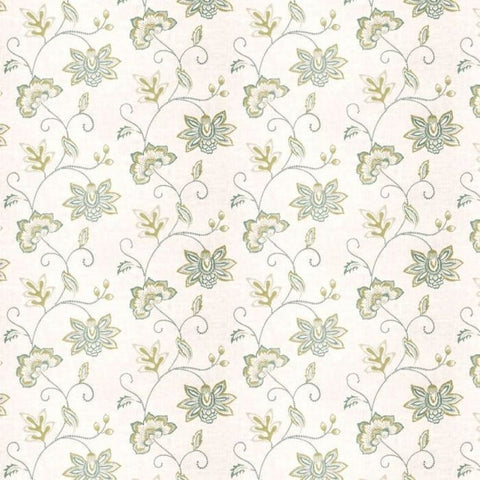 Fabricut Charlotte Moss Ripoli Watercolor Embroidered Fabric