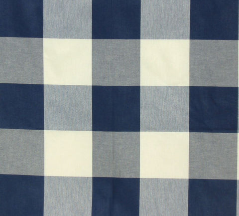 P Kaufmann Call Me 406 Navy Check / Plaid Fabric