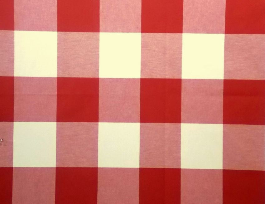P Kaufmann Call Me 569 Firecracker Check / Plaid Fabric