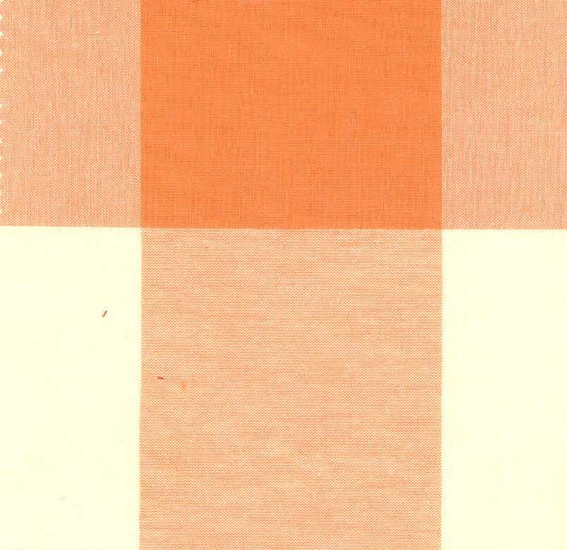 P Kaufmann Call Me 614 Tangerine Check / Plaid Fabric