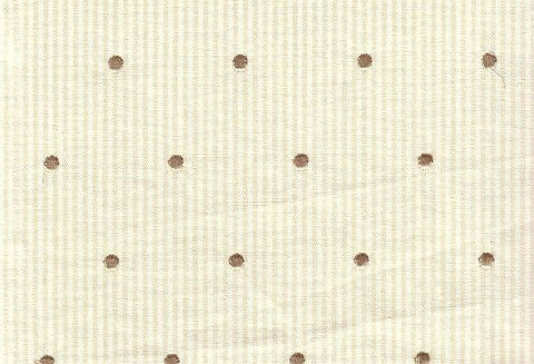 P Kaufmann Dottie 204 Parchment Embroidered Fabric
