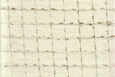 P Kaufmann Eyelashes Ecru Check / Plaid Fabric