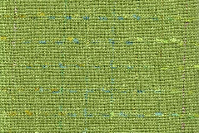 P Kaufmann Eyelashes Parrot Check / Plaid Fabric