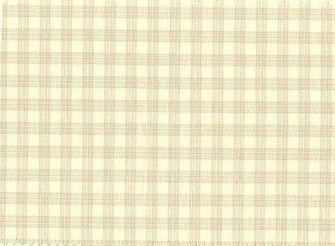 P Kaufmann Highland Check 026 Coconut Check / Plaid Fabric