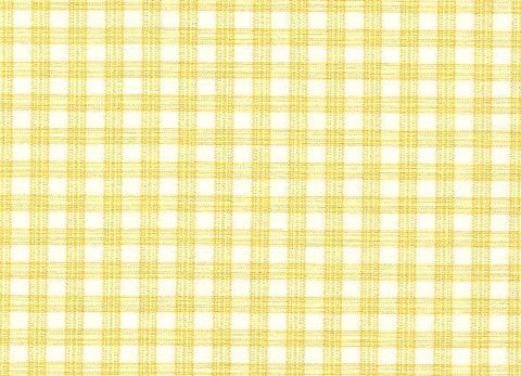 P Kaufmann Highland Check 102 Yellow Check / Plaid Fabric