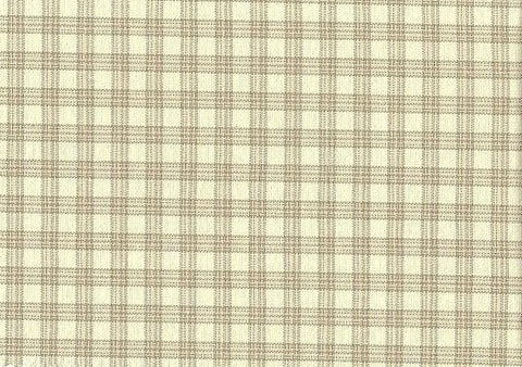 P Kaufmann Highland Check 203 Linen Check / Plaid Fabric