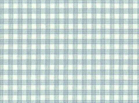 P Kaufmann Highland Check 479 Chambray Check / Plaid Fabric