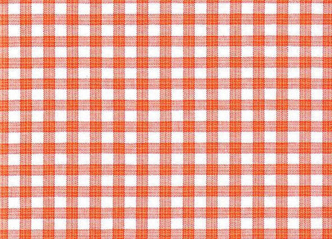P Kaufmann Highland Check 601 Orange Check / Plaid Fabric