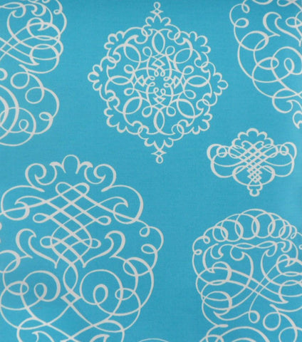 P Kaufmann Odl Blue Print 003 Turquoise Outdoor Fabric