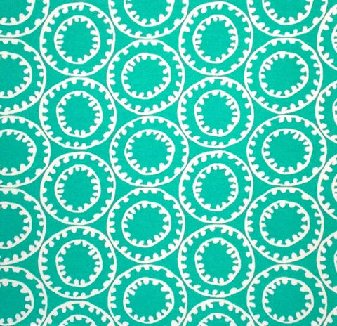 P Kaufmann Odl Ring A Bell 008 Turquoise Outdoor Fabric