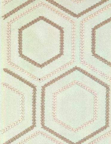 P Kaufmann Sew Be It 008 Pearl Embroidered Fabric