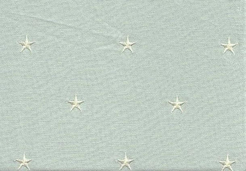 P Kaufmann Shooting Stars 423 Sky Embroidered Fabric