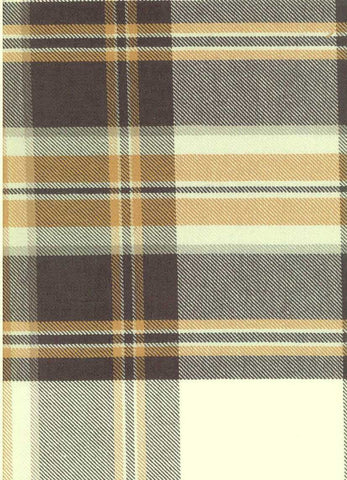 P Kaufmann Sticky Wicket Coal Check / Plaid Fabric