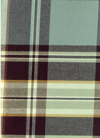 P Kaufmann Sticky Wicket Lagoon Check / Plaid Fabric