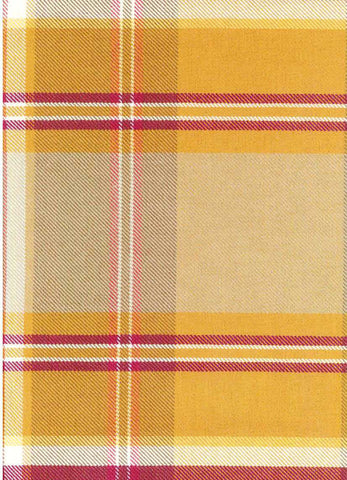 P Kaufmann Sticky Wicket Saffron Check / Plaid Fabric