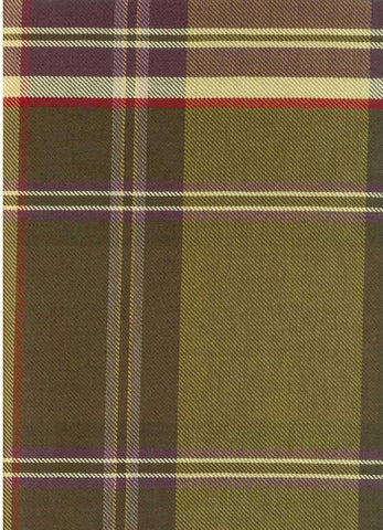 P Kaufmann Sticky Wicket Tartan Check / Plaid Fabric