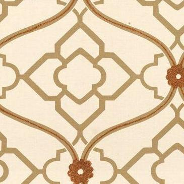 Portfolio Textiles Zuma Ginger Embroidered Fabric
