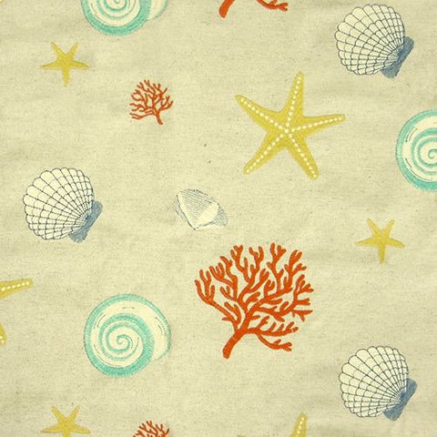 Regal Fabrics K-Beachcomber Coral Embroidered Fabric